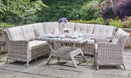 Palm beach rattan garden set