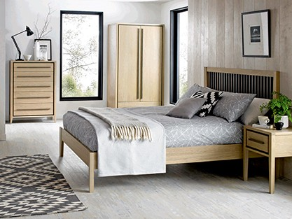 Fishpools bedroom furniture bedroom with velvet bed for Furniture quick delivery