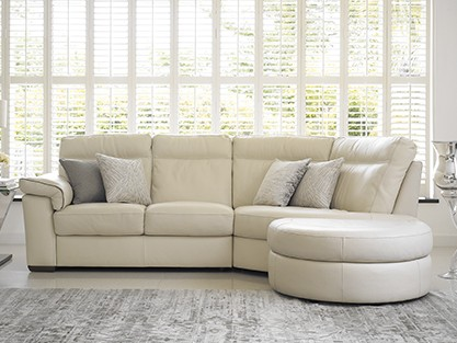 EXPLOREALL LEATHER CORNER SOFAS