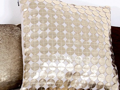 EXPLOREALL GOLD & BROWN CUSHIONS