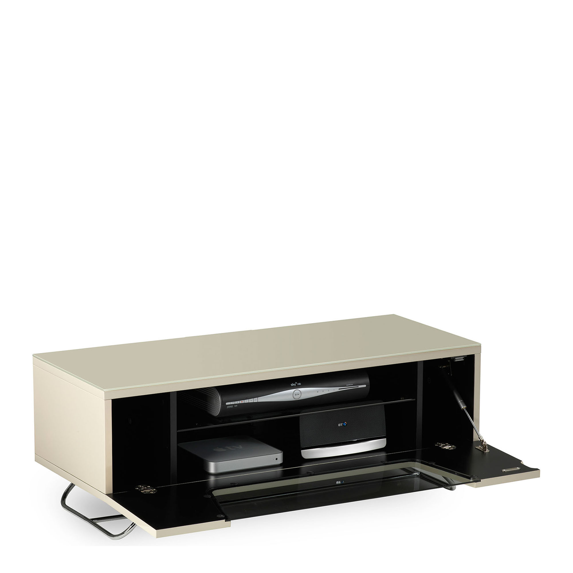 Omega Chromium Tv Unit Ivory High Gloss Tv Units