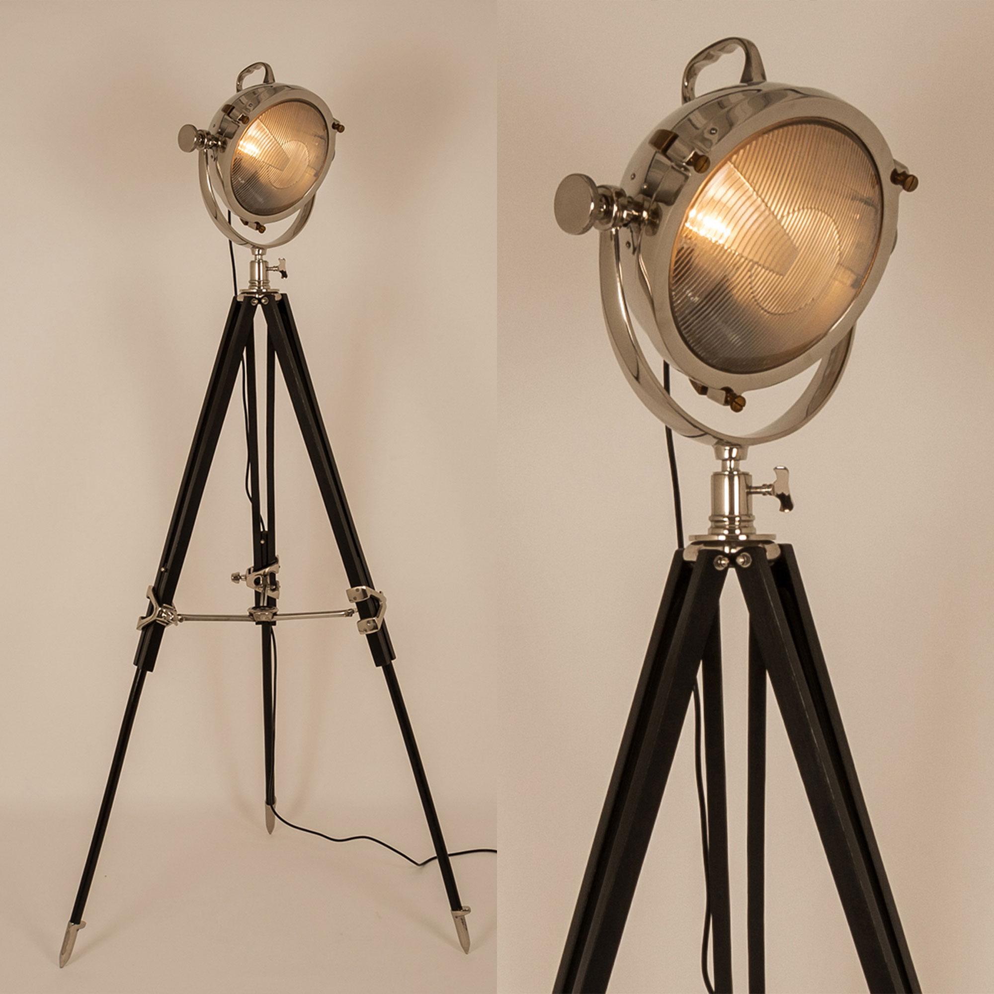 lighting all lighting screen tripod black floor lamp. Black Bedroom Furniture Sets. Home Design Ideas