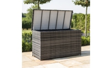 Large Garden Cushion / Storage Box Grey Rattan