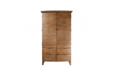 Fairmont - Large Double Wardrobe, Reclaimed Timbers In Sundried Wheat Finish
