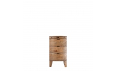 Fairmont - Bedside Chest, Reclaimed Timbers In Sundried Wheat Finish