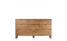 Fairmont - 8 Drawer Wide Chest, Reclaimed Timbers In Sundried Wheat Finish