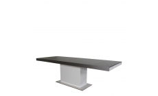 Salerno - 180cm Rectangle Extending Dining Table Extended