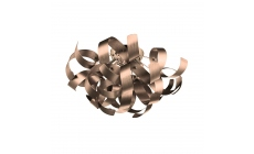 Rawley 4 Light Flush Satin Copper