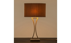 Oporto Table Lamp Antique Brass On