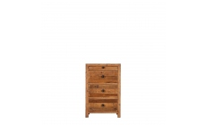 Delta - 3 Drawer Bedside Reclaimed Timber