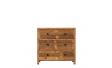 Delta - 3 Drawer Wide Chest Reclaimed Timber