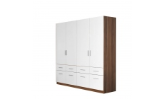Amalfi - 4 Door 8 Drawer Hinged Combi Robe