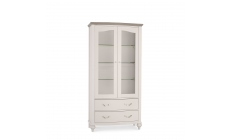 Chaetau - Grey Washed Oak & Soft Grey Display Cabinet
