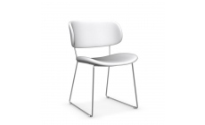 Calligaris Claire M - CS/1483-SK - Dining Chair Frame Metal Stained Chromed Seat Skuba Black