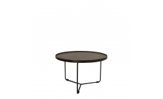 Cattelan Italia Billy Keramik - 60 x 38cm Side Table Marmi Ceramic Top & Black Base