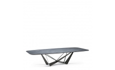 Cattelan Italia Skorpio Keramik - Dining Table Ardesia & Graphite Steel Base
