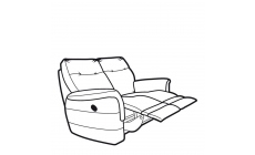 Parker Knoll Hudson Leather - Power Double Recliner 2 Seast Sofa