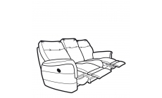 Parker Knoll Hudson Leather - Power Double Recliner 3 Seat Sofa