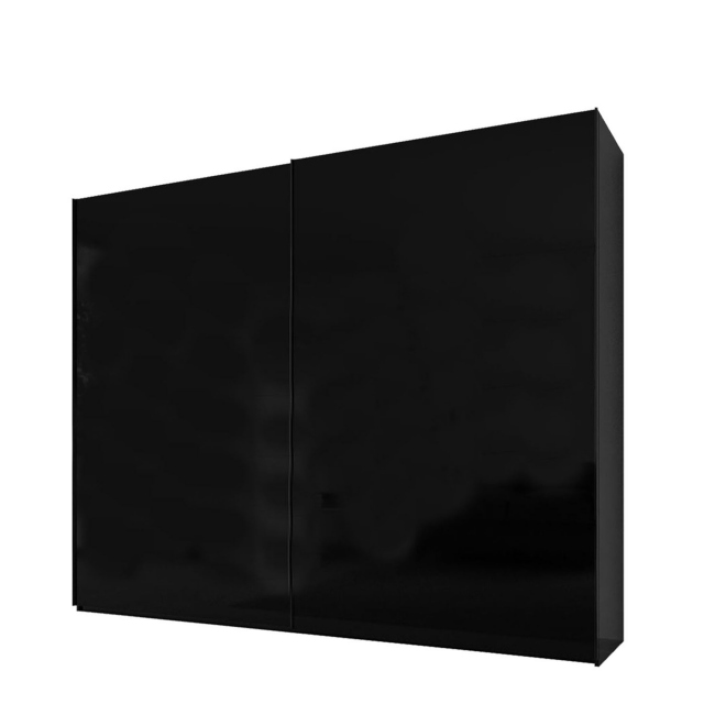Malmo - 220cm Gliding Door Wardrobe Black Gloss/Matt