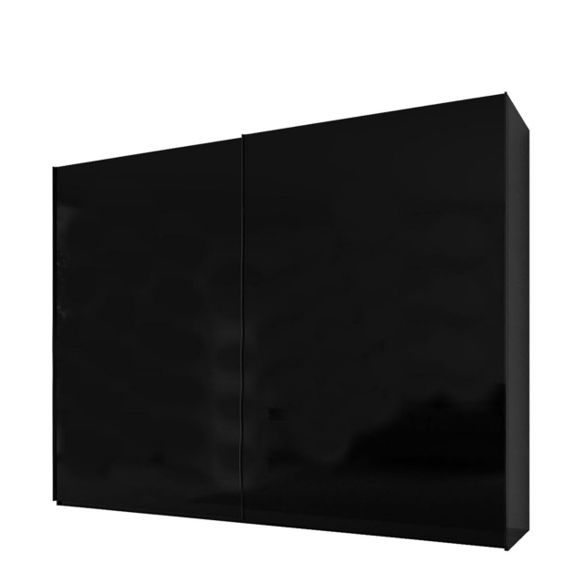 Malmo - 240cm Gliding Door Wardrobe Black Gloss/Matt