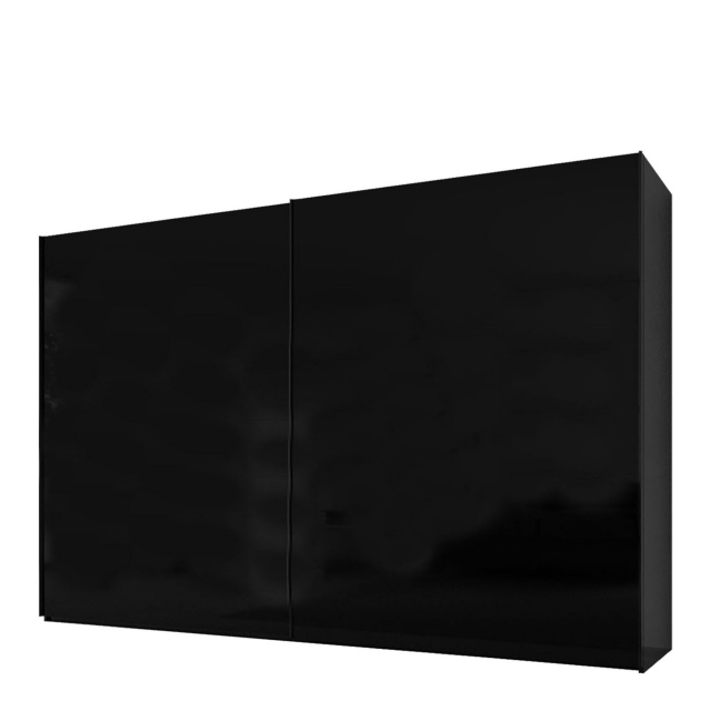 Malmo - 300cm Gliding Door Wardrobe Black Gloss/Matt