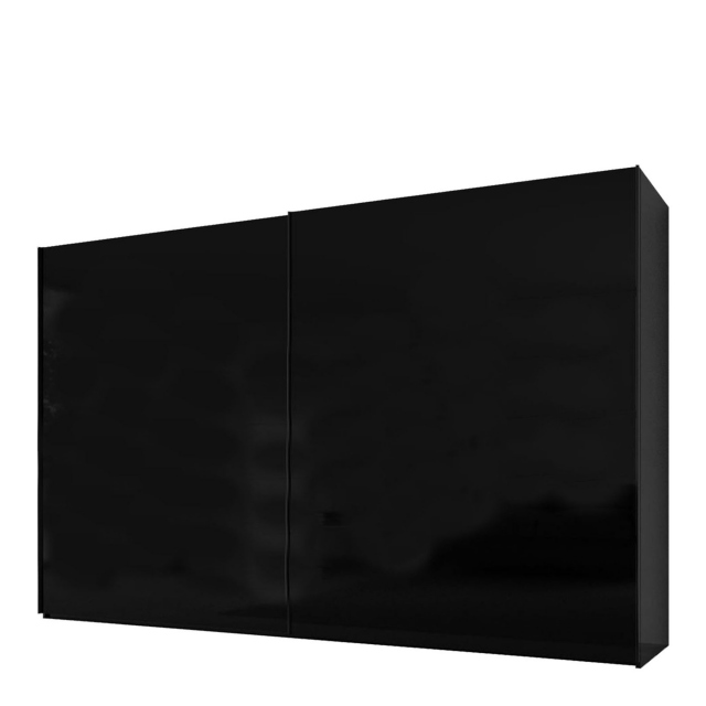 Malmo - 320cm Gliding Door Wardrobe Black Gloss/Matt