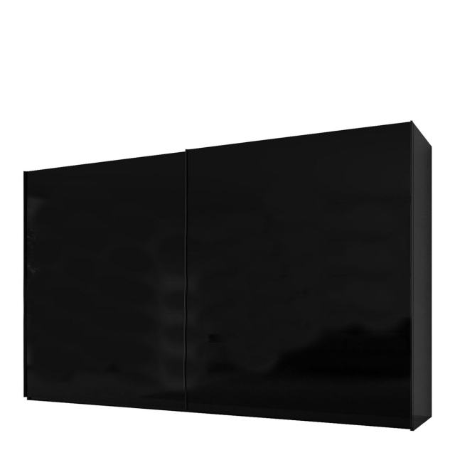 Malmo - 340cm Gliding Door Wardrobe Black Gloss/Matt
