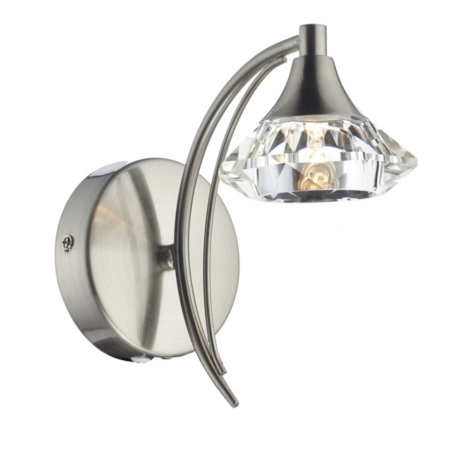 Luther SingleWall Light Satin Chrome