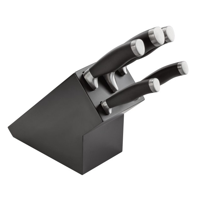 Stellar Black Knife Block 5 Pieces