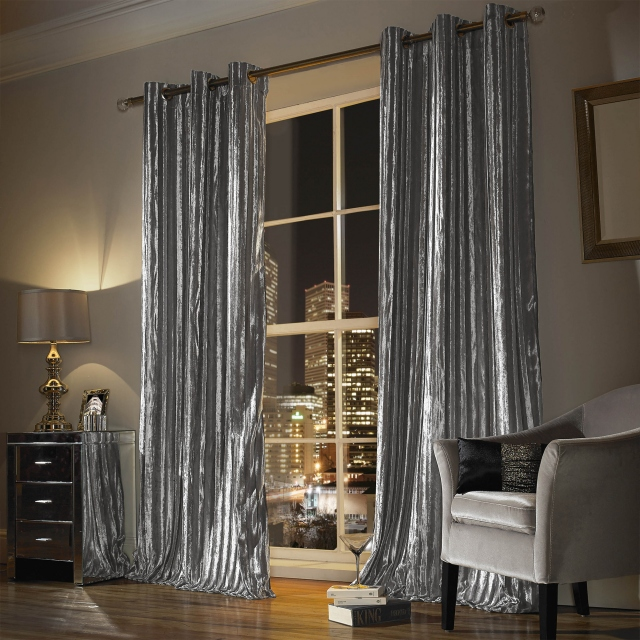 Kylie Minogue Iliana Silver - Eyelet Curtains