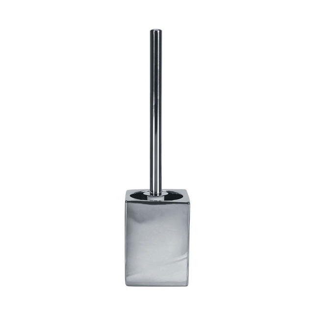 Decadence Toilet Brush & Holder Silver