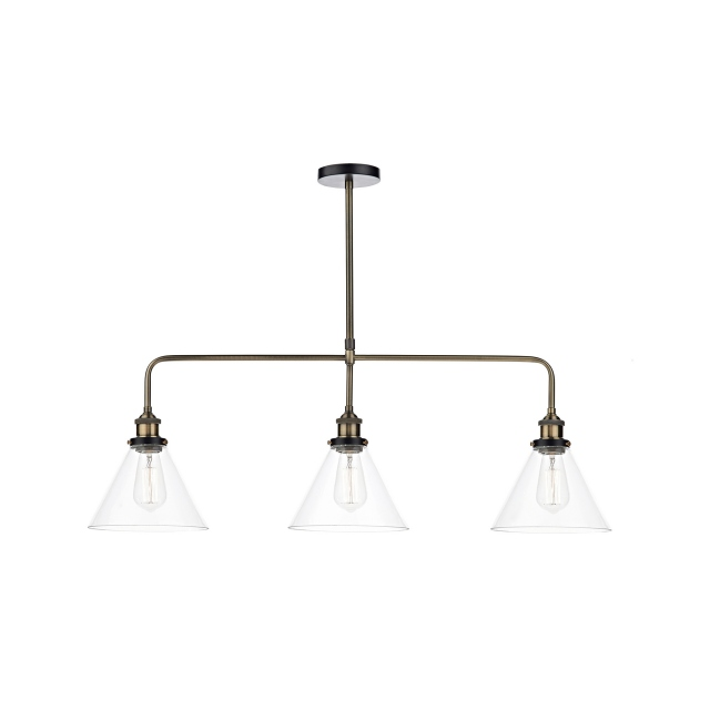 Ray Triple Pendant Ant Brass