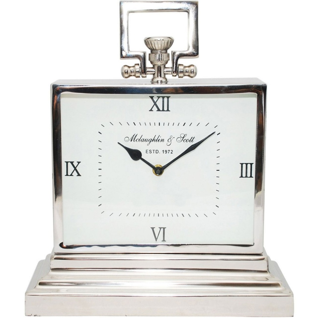 Latham Aluminium Rectangular Clock Small