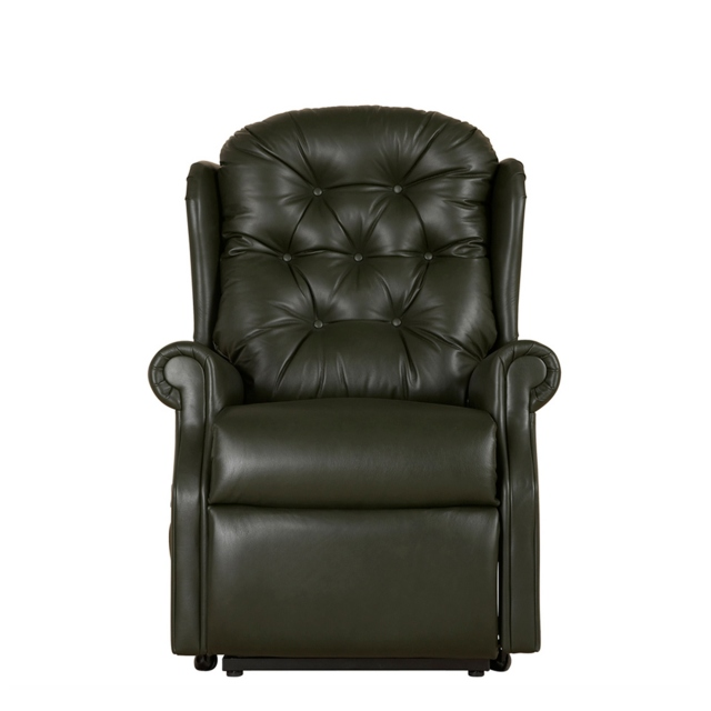 New Burford - Compact Dual Motor Recliner In Leather