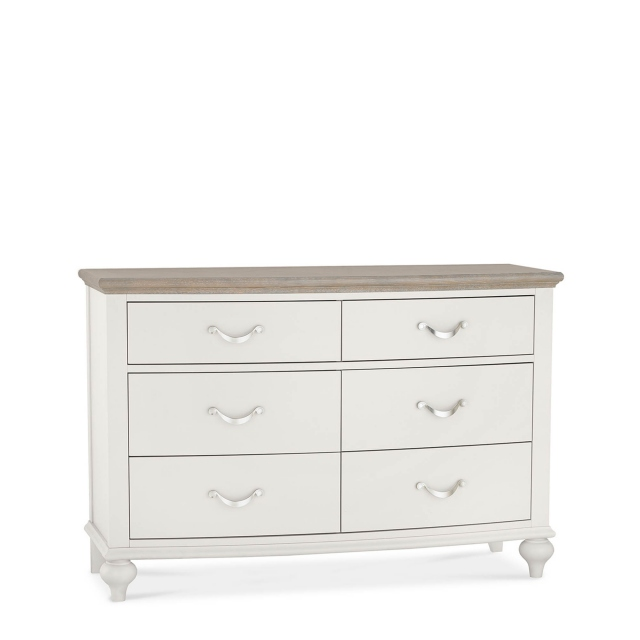 Lausanne - 6 Drawer Wide Chest - Soft Grey