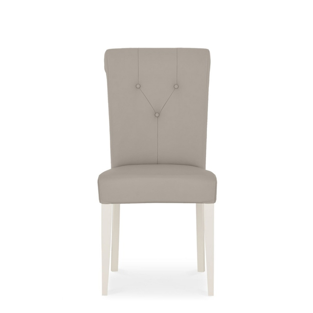 Chateau - Soft Grey Upholstered Bonded Leather Chair