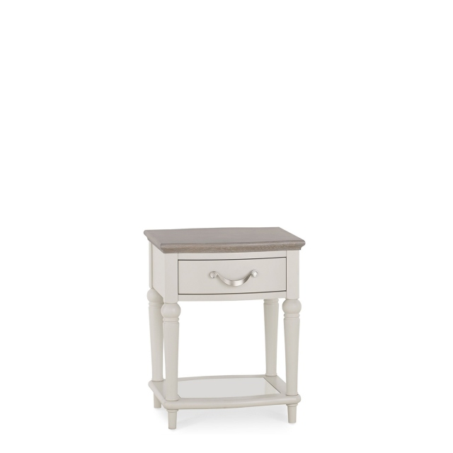 Chateau - Grey Washed Oak & Soft Grey Lamp Table