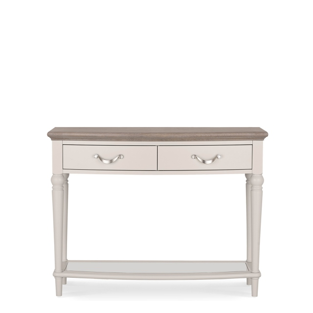 Chateau - Grey Washed Oak & Soft Grey Console Table