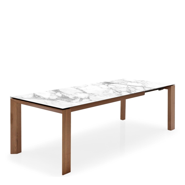 Calligaris Omnia - CS4058-LV Ext Dining Table With White Marble Ceramic Top