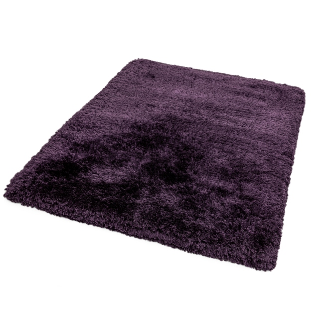 Plush Rug Purple 70 X 140cm
