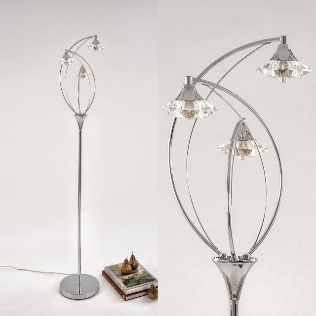 Luther Floor Lamp Polished Chrome