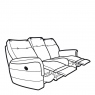 Parker Knoll Hudson Leather - Manual Double Recliner 3 Seat Sofa