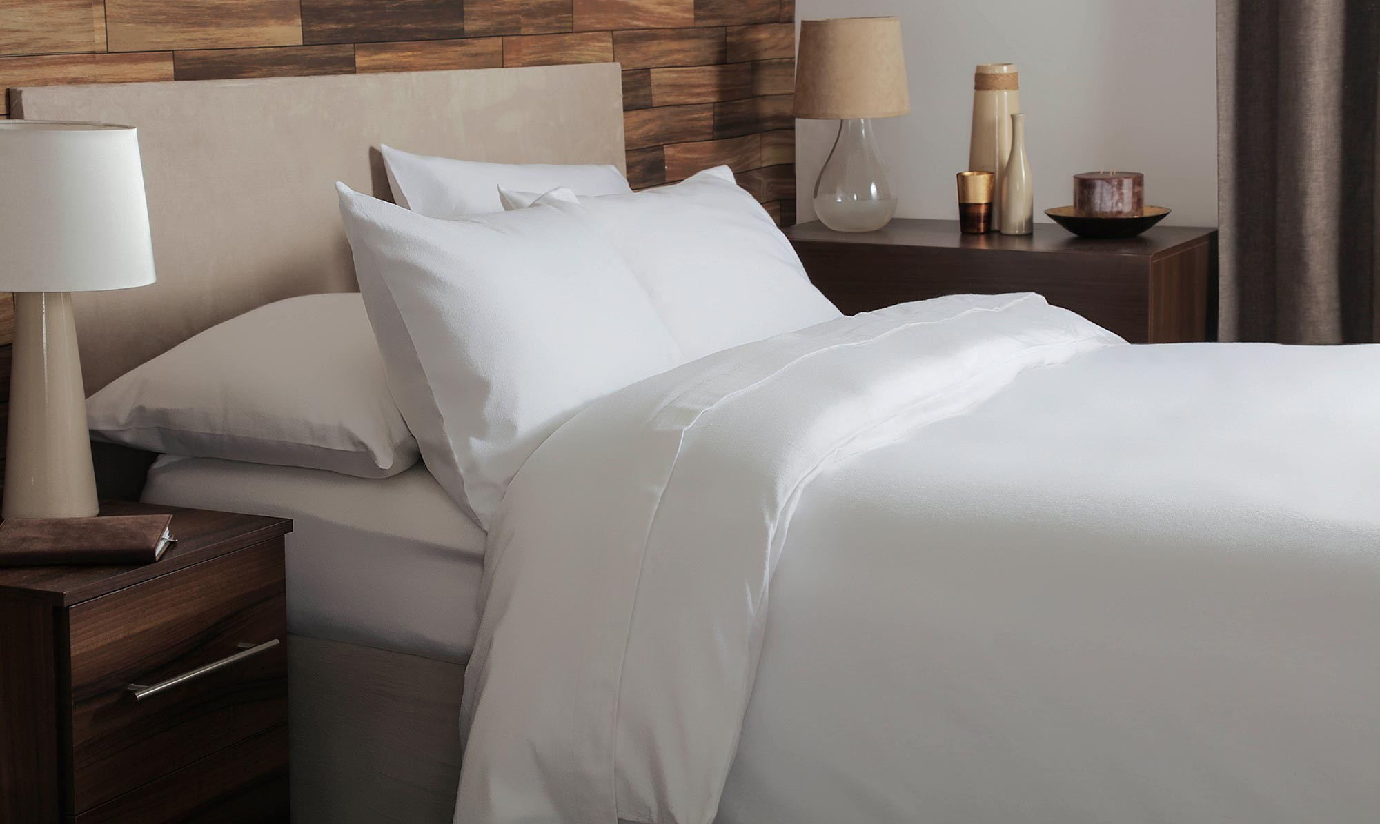 Brushed cotton white sheets