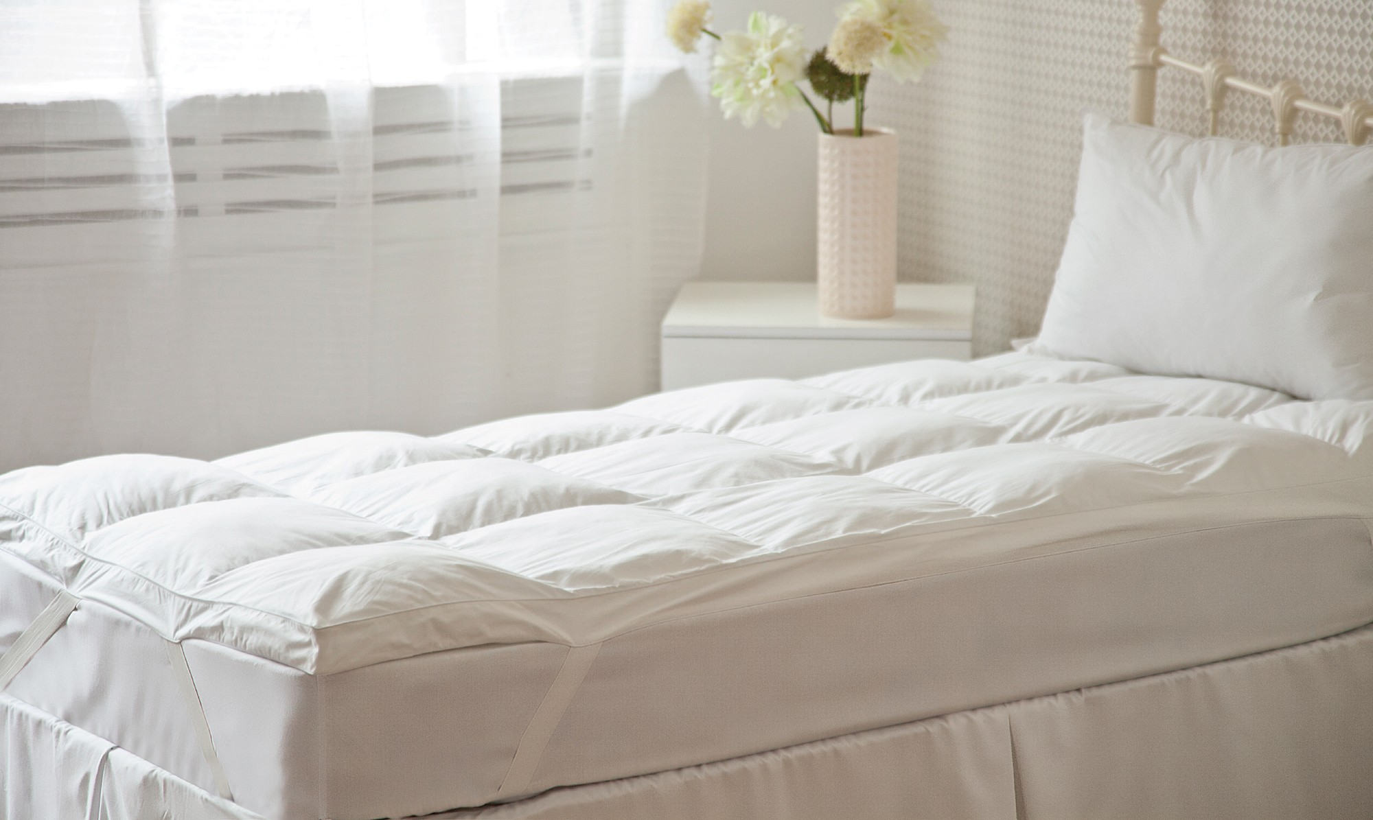 Hotel clusterfill mattress topper