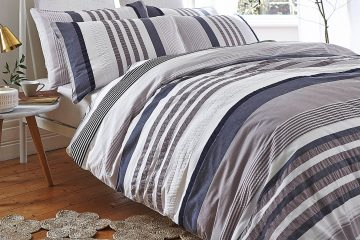 seersucker cotton stripe bedding