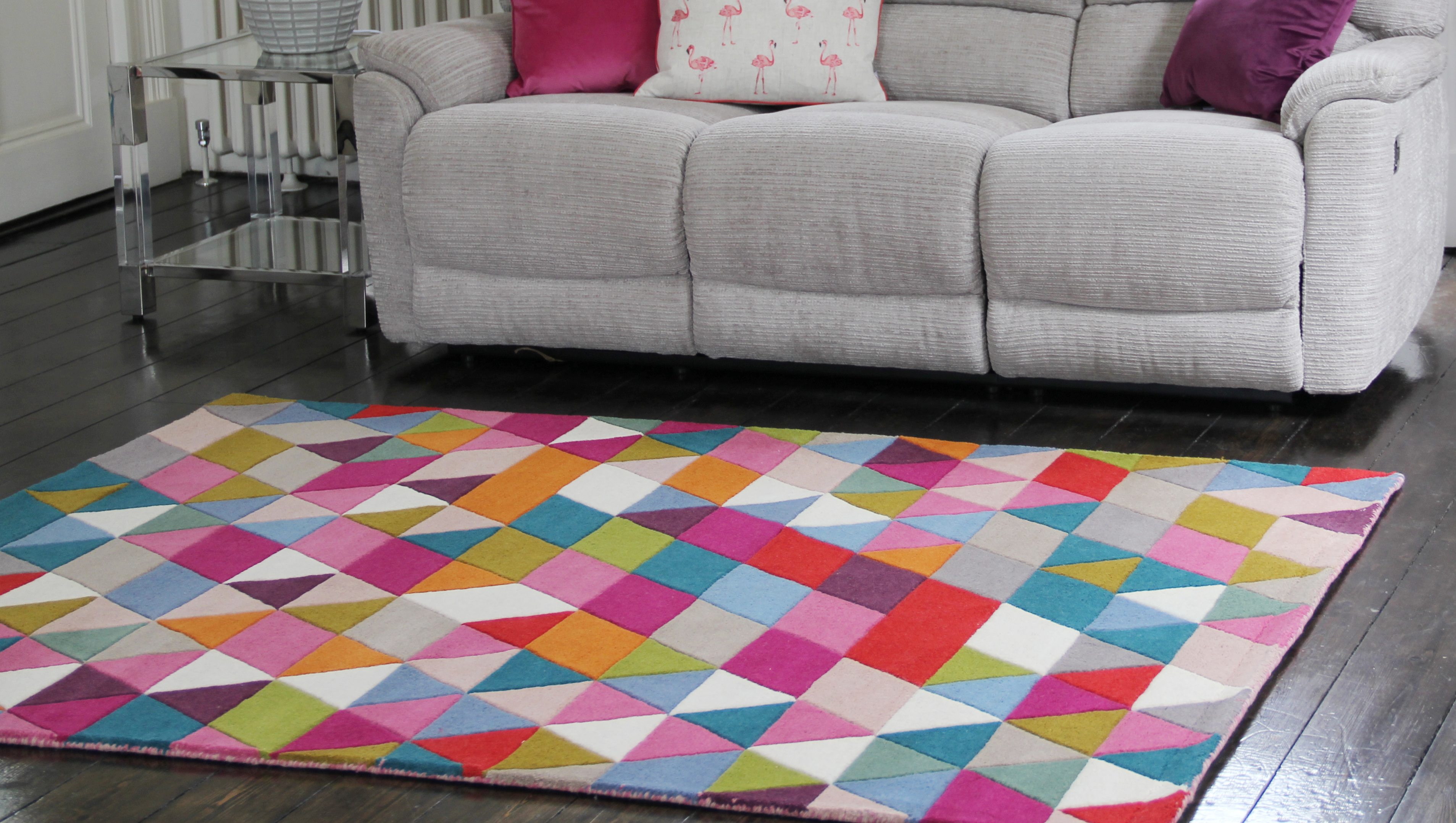 Illusion Prism Rug Pink Multi