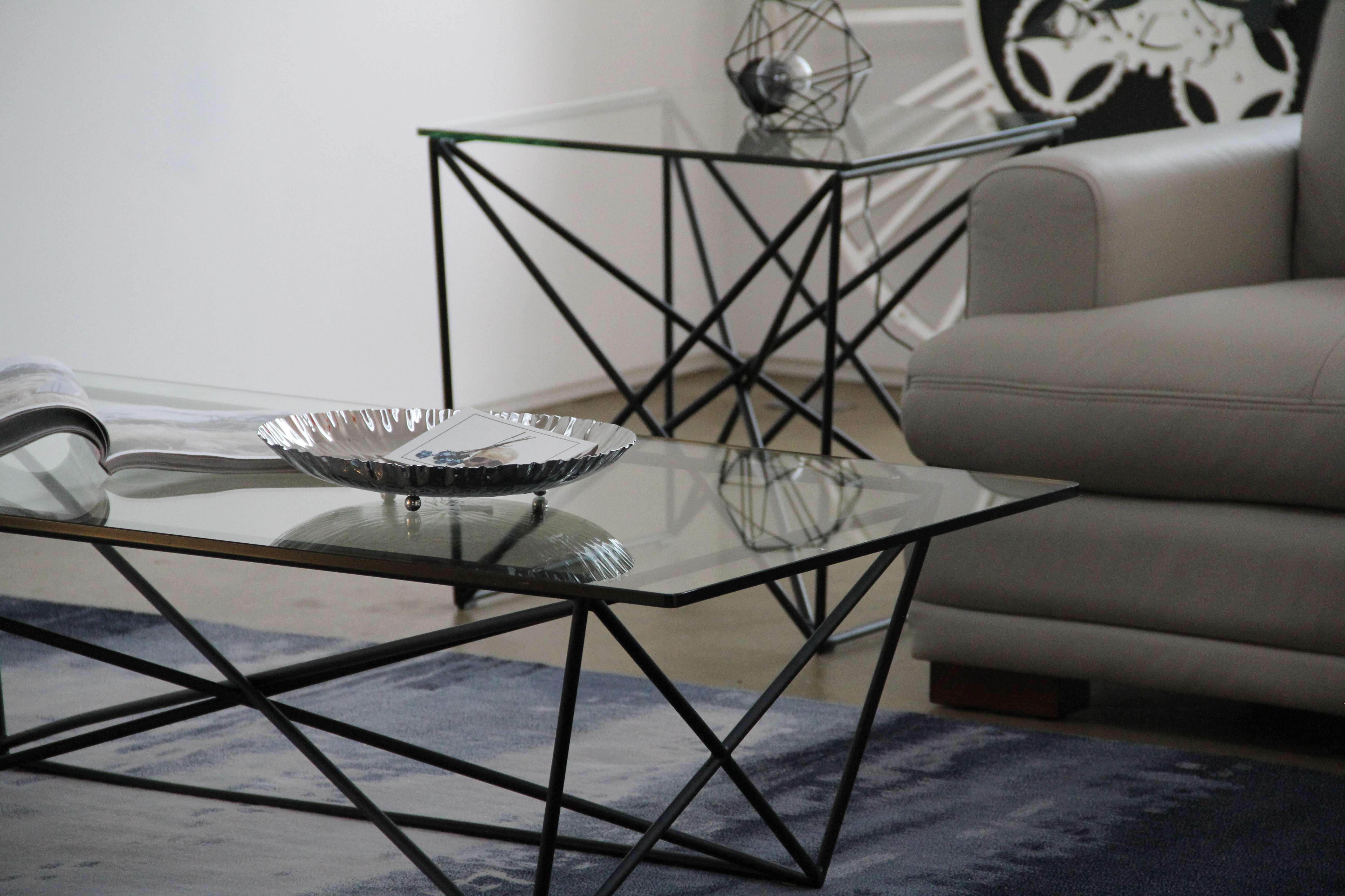 Atlas Lamp and Coffee Tables (2)