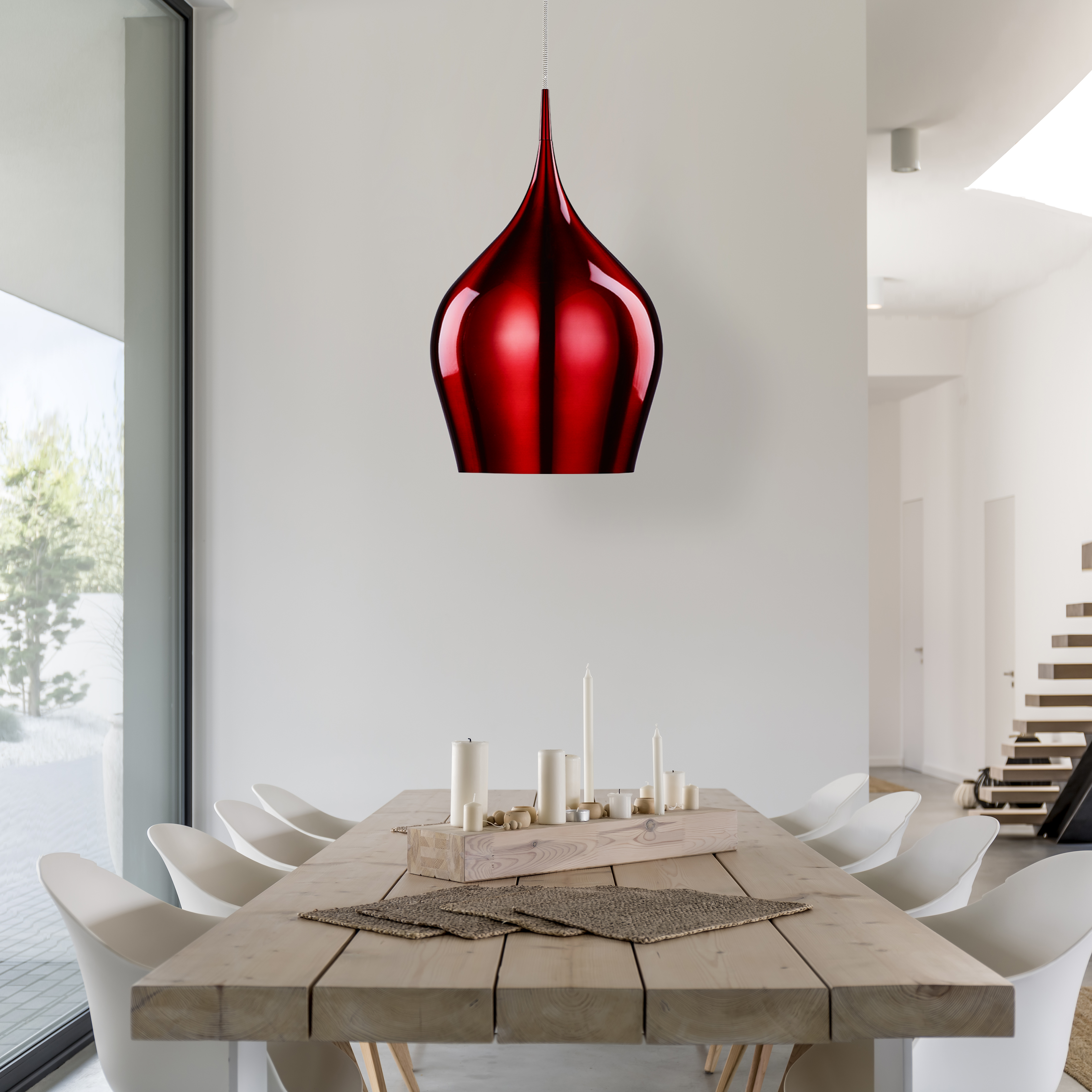 Fizzy Large Pendant Red