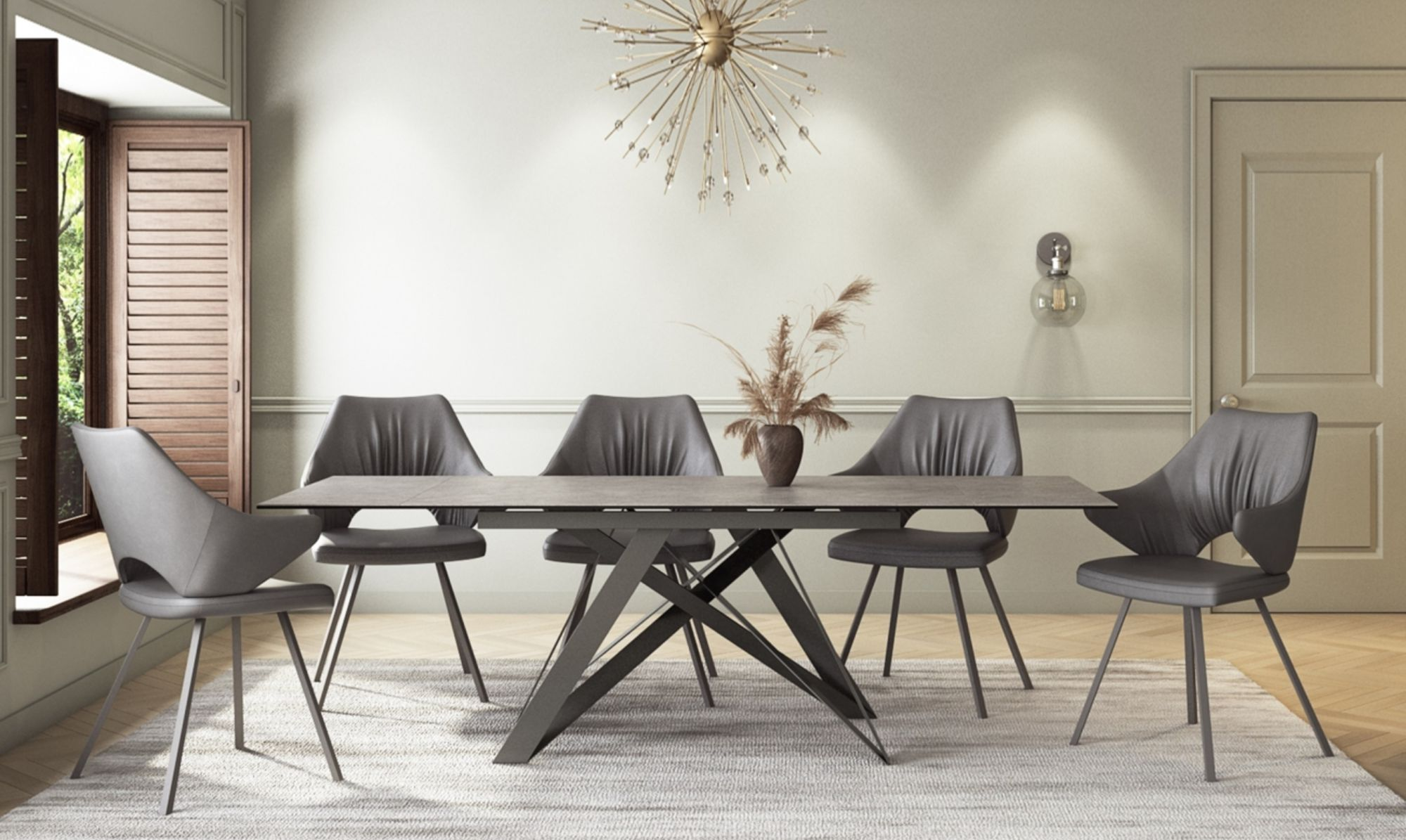 Valentini rectangular dining table