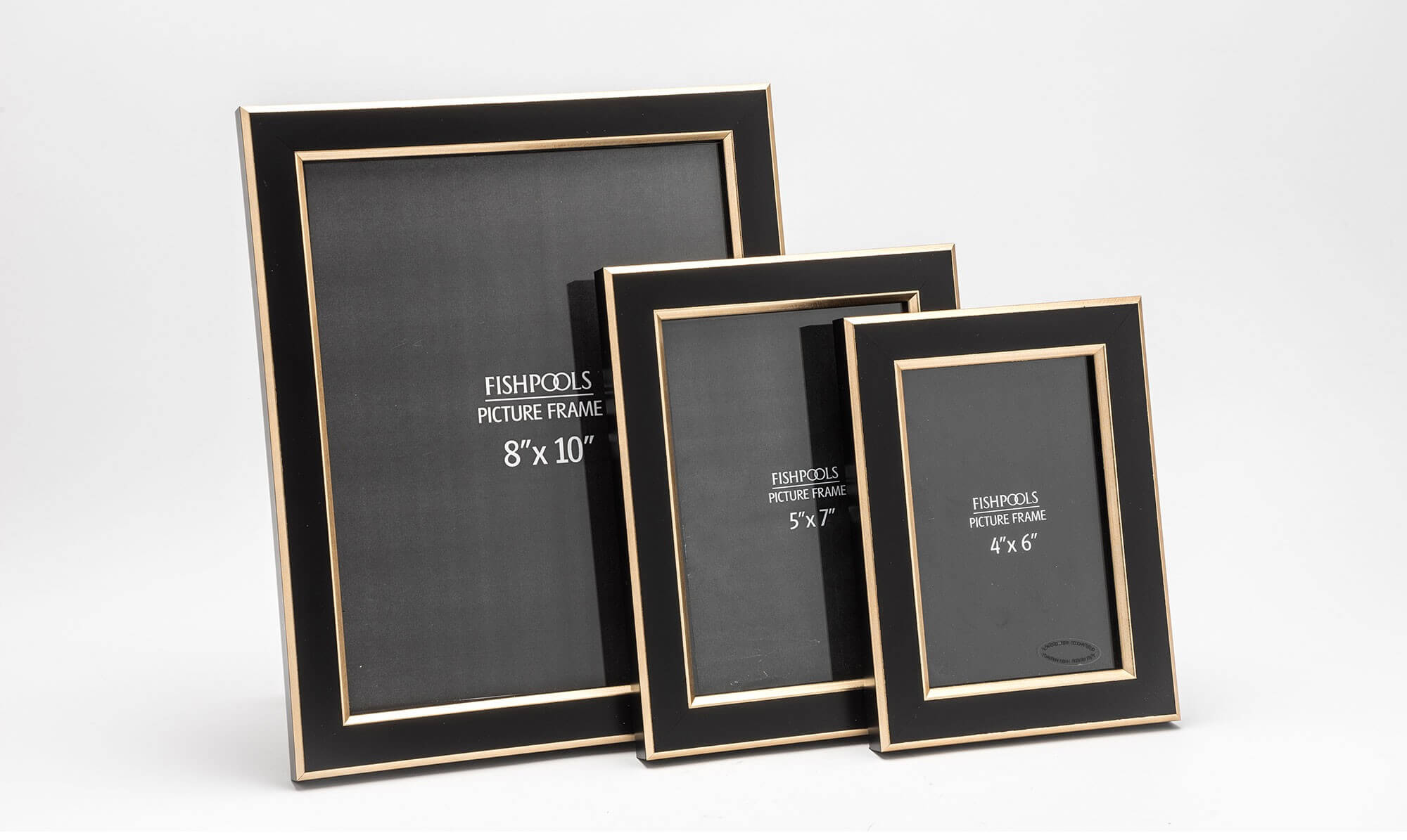 Fishpools black and gold picture frame